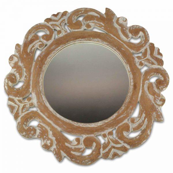 spiegel wandspiegel rund mit schnitzerei bad spiegel kommde badezimmer